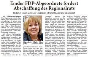 20140611 Emder FDP Abgeordnete fordert Abschaffung des Regionalrats ON