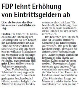 20140626 FDP lehnt Erhöhung von Eintrittsgeldern ab EZ