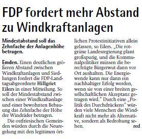 20140820 FDP fordert mehr Abstand zu Windkraftanlagen EZ