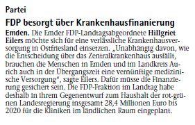 20141011 FDP besorgt über Krankenhausfinanzierung EZ