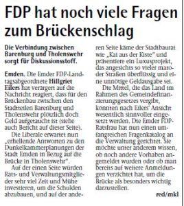 20141011 FDP hat noch viele Fragen zum Brückenschlag EZ