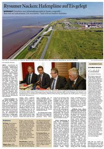 20141028 Rysumer Nacken - Hafenpläne auf Eis gelegt OZ