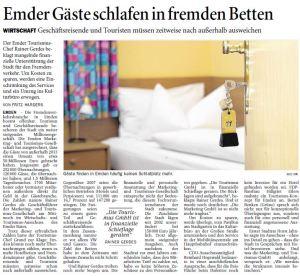20141205 Emder Gäste schlafen in fremeden Betten OZ