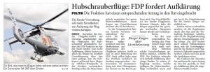 20150213 Huschrauberflüge - FDP fordert Aufklärung OZ