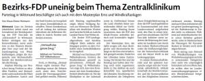 20150223 Bezirks-FDP uneinig beim Thema Zentralklinikum EZ