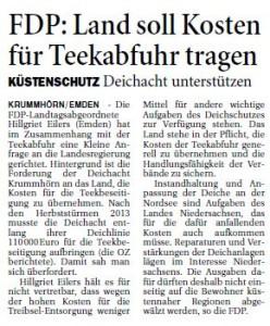 20150224 FDP - Land soll Kosten für Teekabfuhr tragen OZ