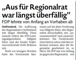 20150427 Aus für Regionalrat war längst überfällig EZ