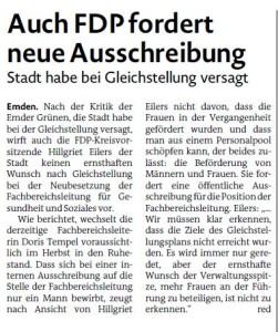 20150617 Auch FDP fordert neue Ausschreibung EZ