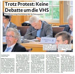 20150710 Trotz Proteste - Keine Debatte um die VHS EZ