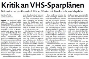 20150715 Kritik an VHS-Sparplänen EZ