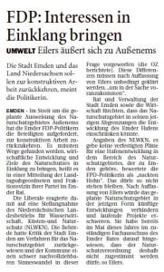 20151123 FDP - Interessen in Einklang bringen OZ