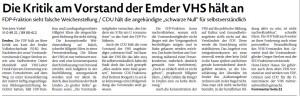 20160220 Die Kritik am Vorstand der Emder VHS hält an EZ