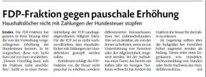 20160224 FDP-Fraktion gegen pauschale Erhöhung EZ
