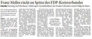 20160414 Franz Melles rückt an Spitze des FDP-Kreisverbandes OZ