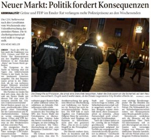 20160803 Neuer Markt - Politik fordert Konsequenzen OZ