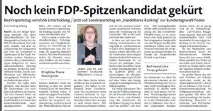 20170213 Noch kein FDP-Spitzenkandidat gekürt EZ