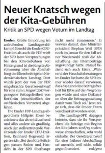 20170308 Neuer Knatsch wegen der Kita-Gebühren EZ