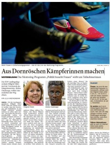 Aus Dornröschen Kämpferinnen machen OZ 07.08.2014