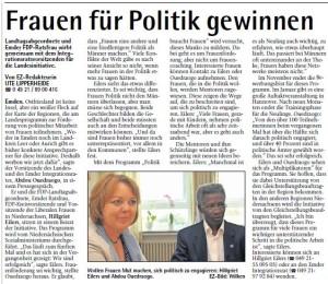 Frauen für die Politik gewinnen EZ 04.08.2014