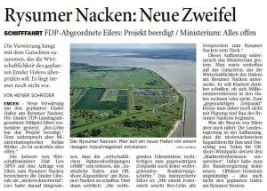 Rysumer Nacken - Neue Zweifel vom 27.09.2014