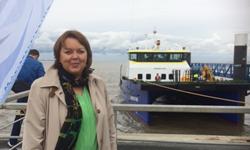 Hillgriet Eilers vor dem Offshore-Versorgungsschiff Windea Two